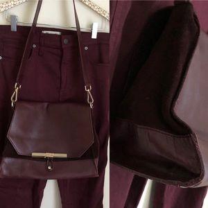 Zara colorblock split leather suede crossbody 300